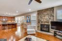 Recessed lights throughout & stone fireplace - 22362 BRIGHT SKY DR, CLARKSBURG