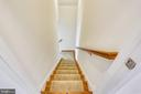 Back stairway from 5th Bedroom to kitchen area - 22362 BRIGHT SKY DR, CLARKSBURG