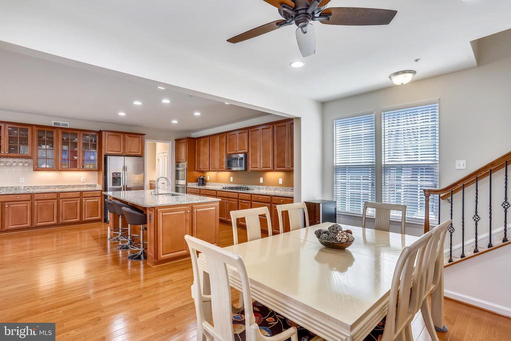 Breakfast room with ceiling fan - 22362 BRIGHT SKY DR, CLARKSBURG