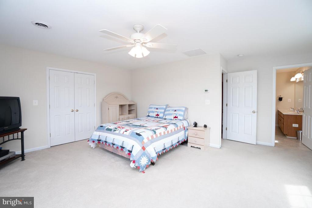 Master bedroom on the upstairs level - 160 WILLOWDALE LN, FREDERICKSBURG