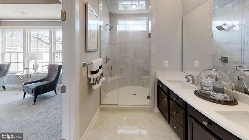 Master Bath-Dual Vanities, Dual Shower Head - 42630 HARLOW MEADOWS TER, DULLES