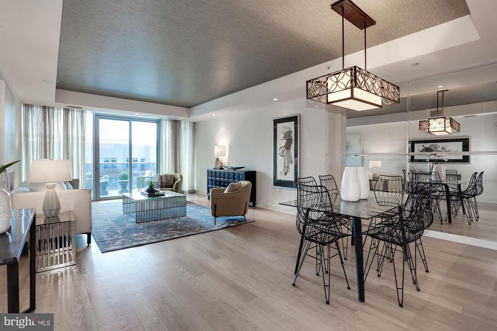 Grand light-filled living and dining room - 1881 N NASH ST #804, ARLINGTON
