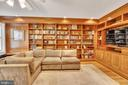 Expansive library with beautiful millwork - 1727 WILLARD ST NW, WASHINGTON