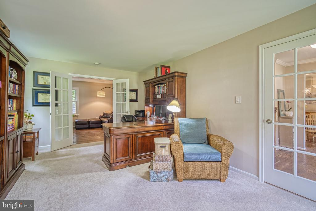 Private office with glass French Doors - 9631 BOYETT CT, FAIRFAX