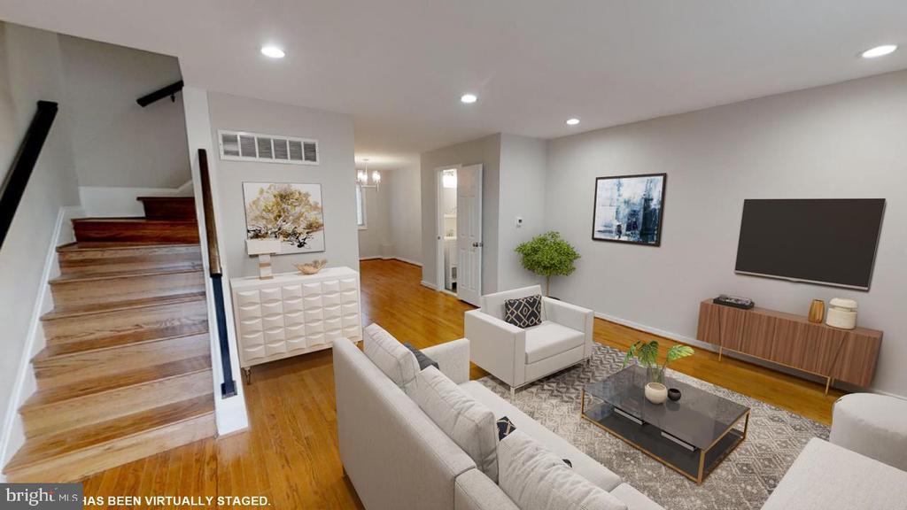 Entrance to living room - 2310 14TH ST NE, WASHINGTON