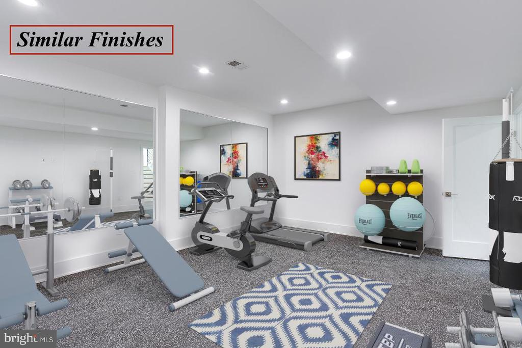 Workout Room is a Similar Model - 602 MEADOW LN SW, VIENNA