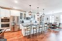 Designer lighting highlights well-appointed island - 23631 HAVELOCK WALK TER #420, ASHBURN