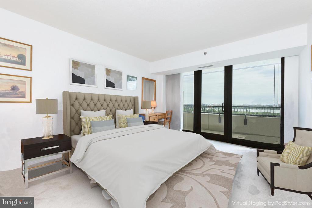 Transitional Virtual Styling of Bedroom Ste # 2 - 1200 CRYSTAL DRIVE #1413-1414, ARLINGTON