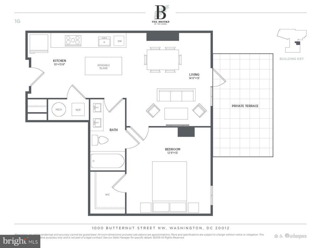 Unit 110 Floor Plan - 6803 CAMERON DR NW #110, WASHINGTON