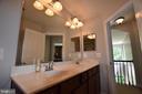 Upstairs hall bath - 40 BELLA VISTA CT, STAFFORD
