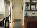 Hallway to main floor entrance - 3720 39TH ST NW #A163, WASHINGTON