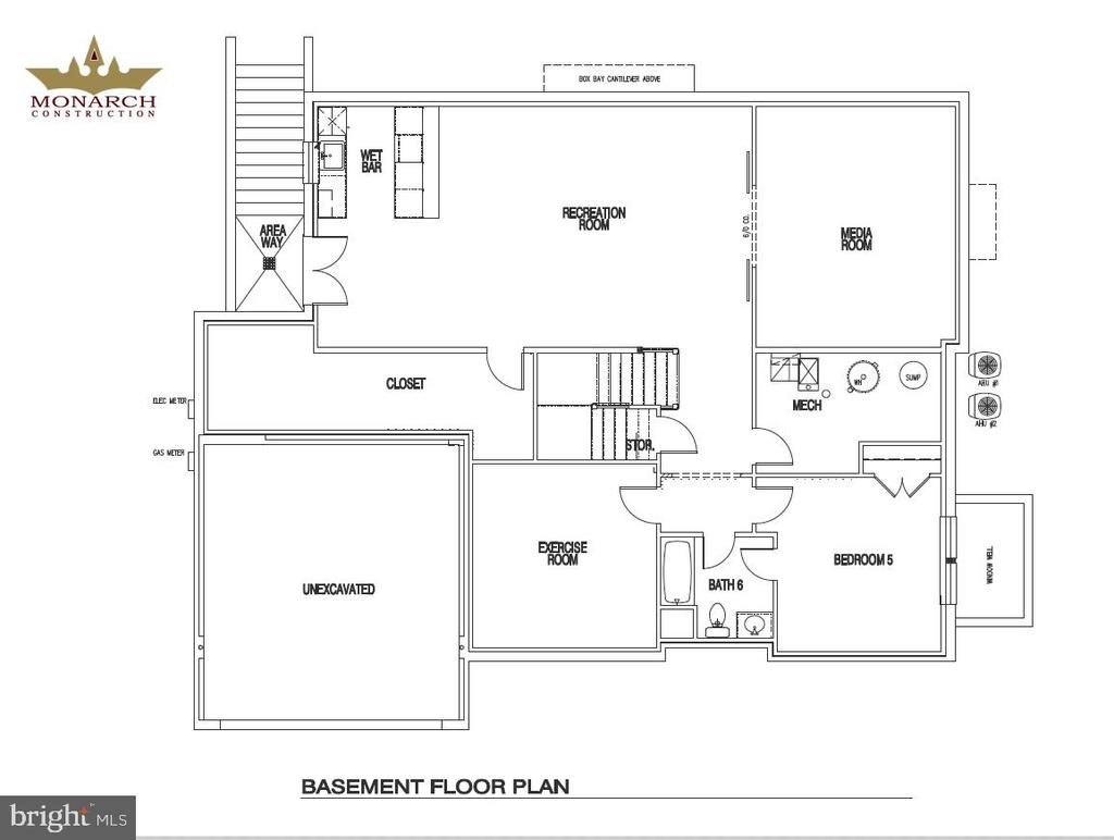 Basement Floor Plan of 602 Meadow Lane - 602 MEADOW LN SW, VIENNA