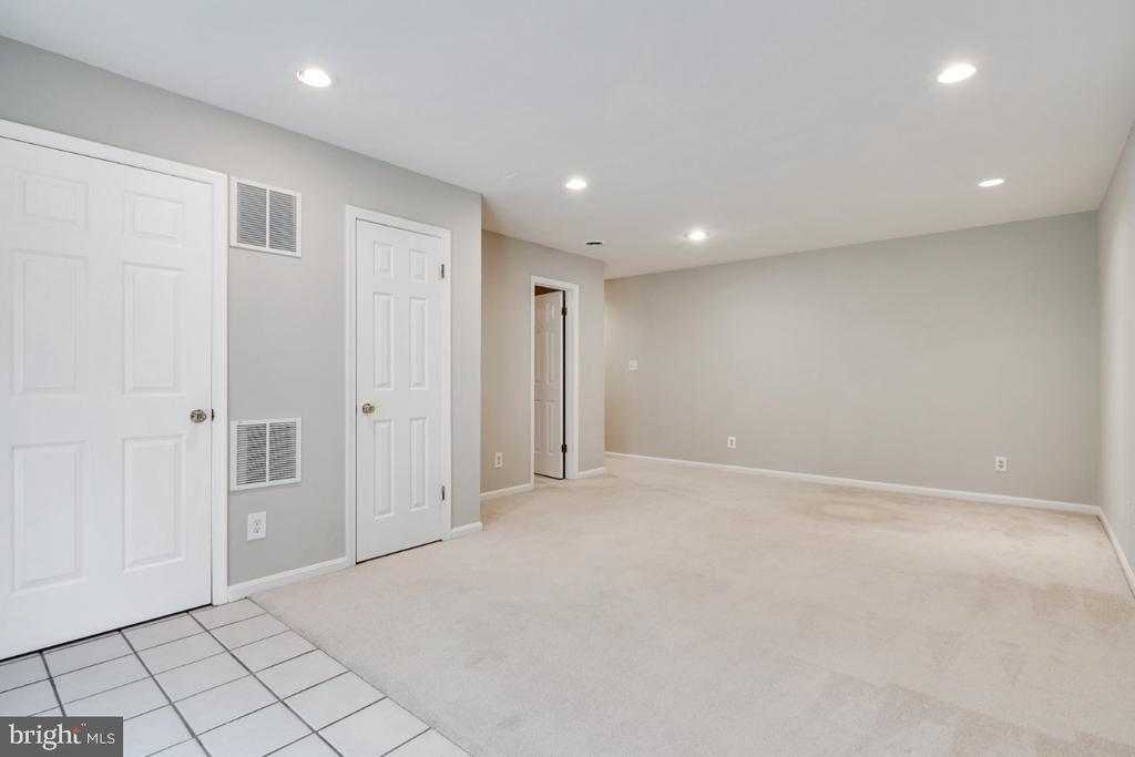 Full bathroom in basement; recessed lighting - 14422 WILLIAM CARR LN, CENTREVILLE