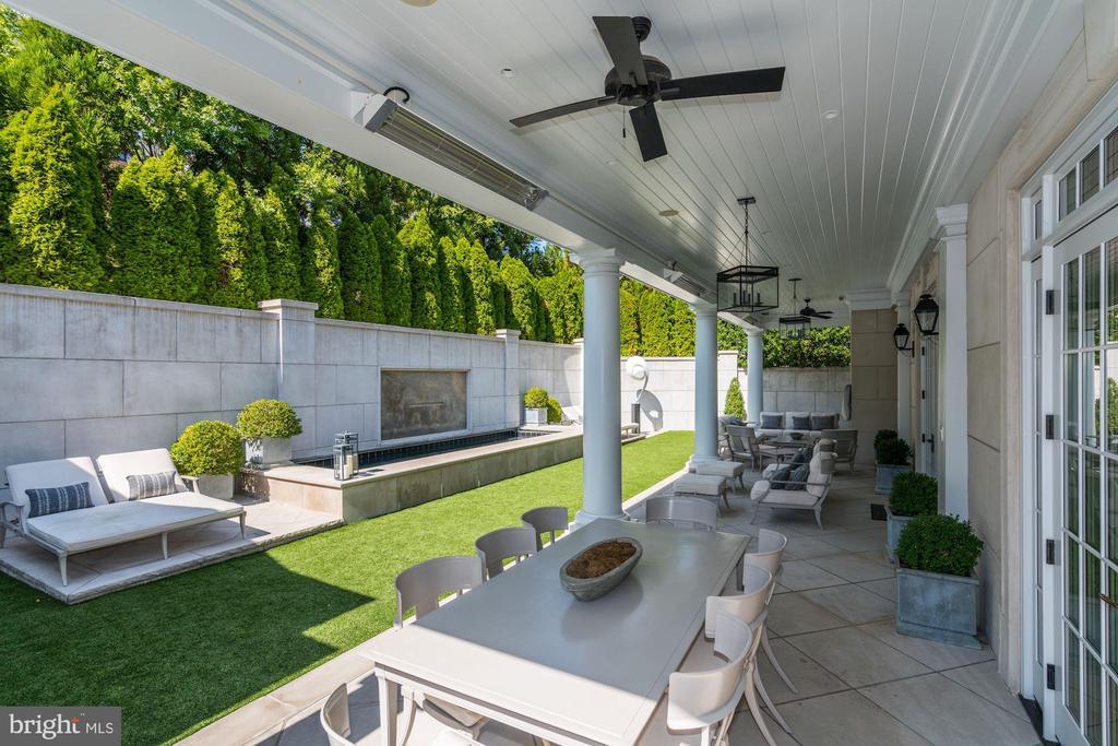 Patio/Backyard with Pool - 2101 DUNMORE LN NW, WASHINGTON