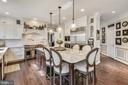 Island Counter for entertaining/additional seating - 11329 STONEHOUSE PL, POTOMAC FALLS