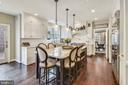 Kitchen: impeccable details & maximized work flow - 11329 STONEHOUSE PL, POTOMAC FALLS