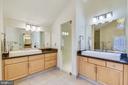 Master Bath: separate vanities - 11329 STONEHOUSE PL, POTOMAC FALLS