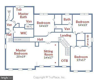 Upper Level Floorplan - 11329 STONEHOUSE PL, POTOMAC FALLS