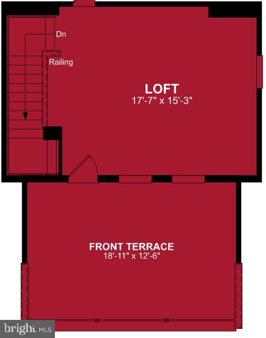 Fourth Level Floor Plan - 17668 FALCON HEIGHTS ST, DUMFRIES