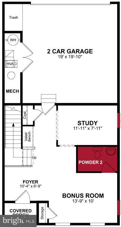 First Level Floor Plan - 17668 FALCON HEIGHTS ST, DUMFRIES