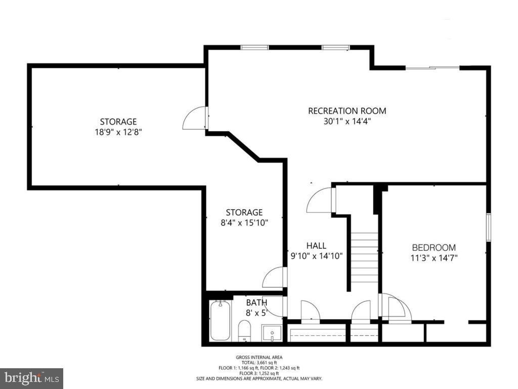 Lower Level Floor Plan - 18449 CROWNSGATE CIR, GERMANTOWN