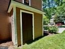 Built in shed for storage of lawn tools - 6218 GENTLE LN, ALEXANDRIA