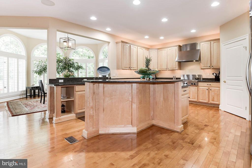 Upgraded gourmet kitchen w/more recessed lighting - 11594 CEDAR CHASE RD, HERNDON
