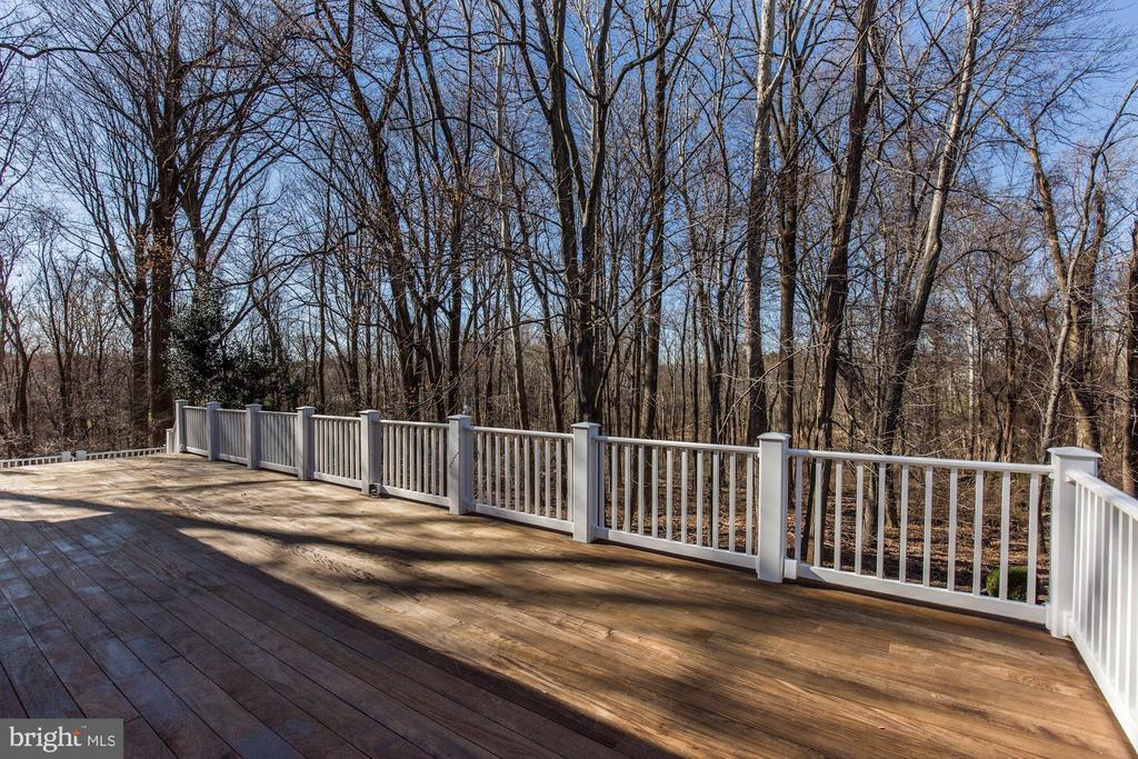 DECK WITH WOODED VIEWS - 13716 SAFE HARBOR CT, ROCKVILLE