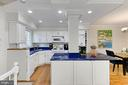 Center island has space for bar-style seating. - 3384 GUNSTON RD, ALEXANDRIA