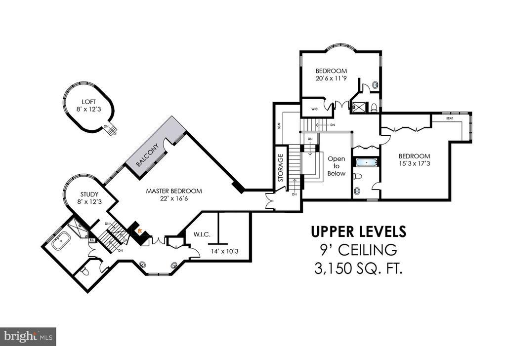 Upper Level Floor Plan - 40850 ROBIN CIR, LEESBURG