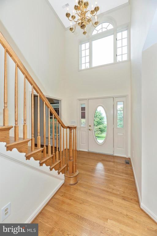 Sunny two story foyer to greet your guests. - 7799 COBLENTZ RD, MIDDLETOWN