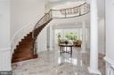 Inviting grand foyer with marble floors - 11418 WAPLES MILL RD, OAKTON