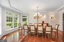 Dining room - 11418 WAPLES MILL RD, OAKTON