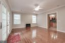 Large open family room with access to the backyard - 5715 7TH ST N, ARLINGTON