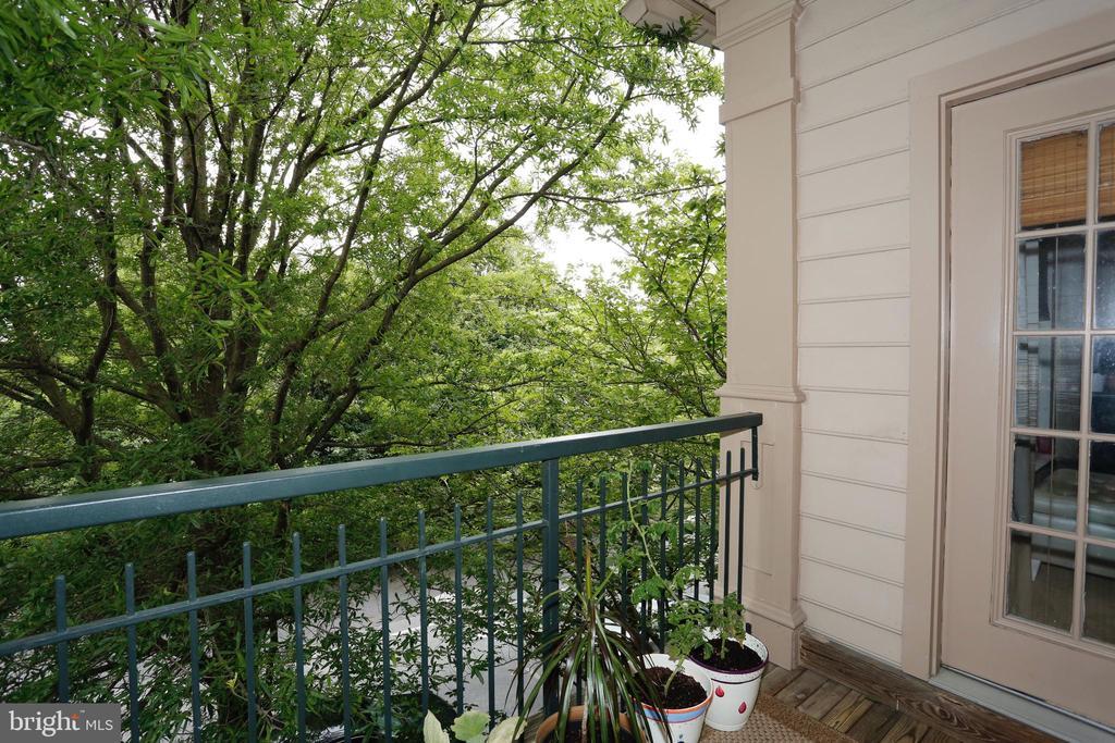 Balcony off of main level living room - 415 RIDGEPOINT PL #32, GAITHERSBURG