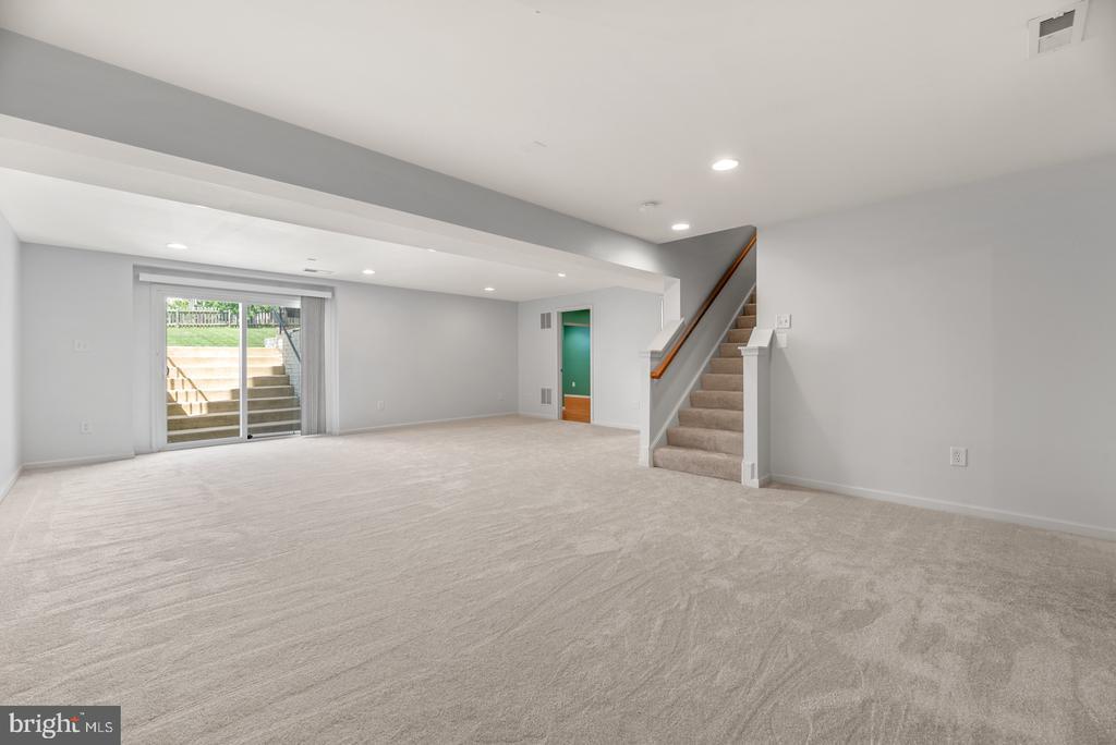Large finished basement - 41 TOWN CENTER DR, LOVETTSVILLE