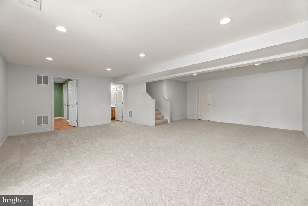 Large finished basement with full bath - 41 TOWN CENTER DR, LOVETTSVILLE