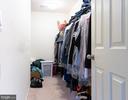 Master Walk In Closet - 18226 JILLIAN LN, TRIANGLE