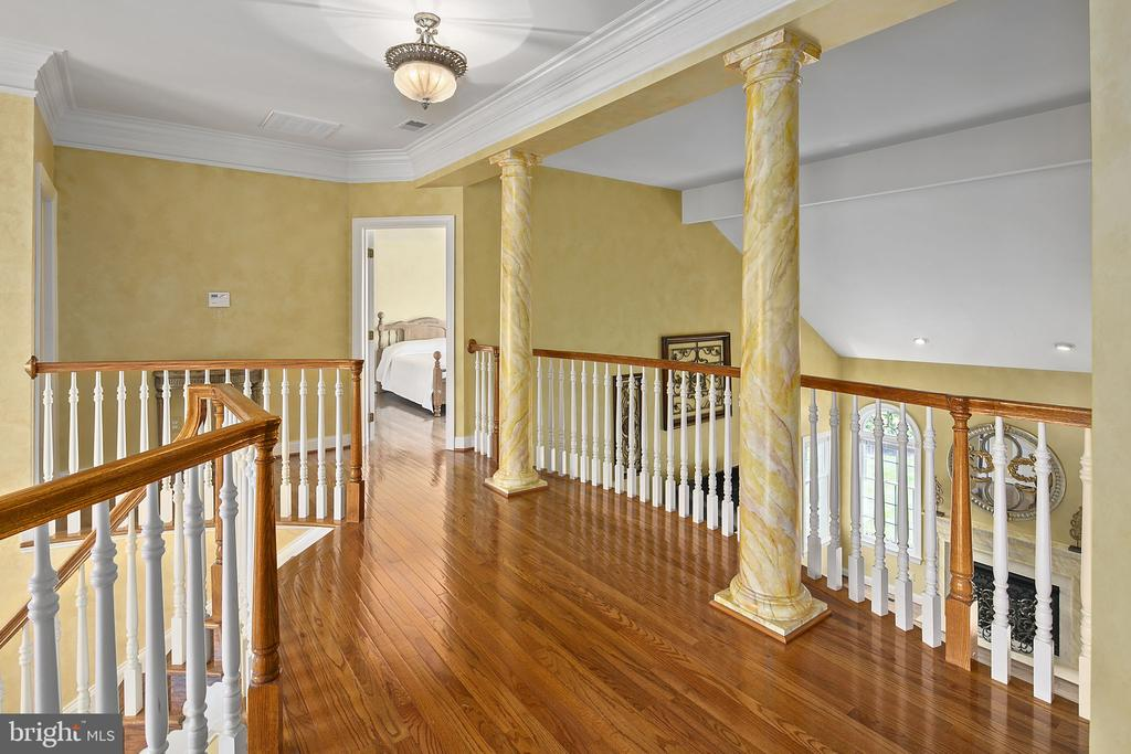 Upper floor hallway from Master to