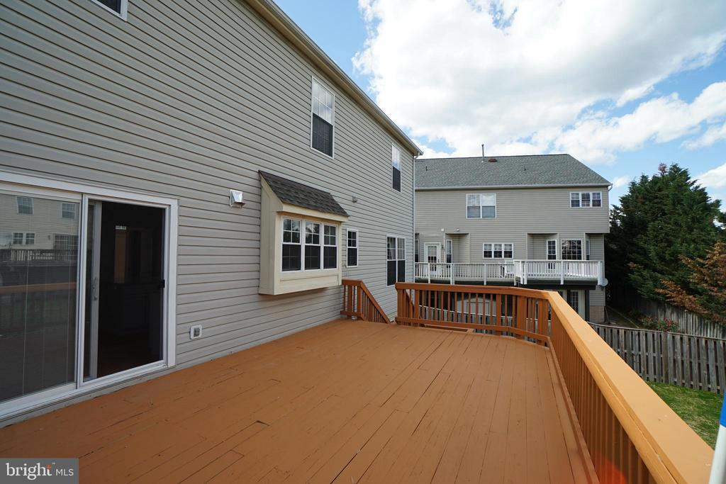 Deck measures 21 x 4  -Great for entertaining - 6311 WILLOWFIELD WAY, SPRINGFIELD
