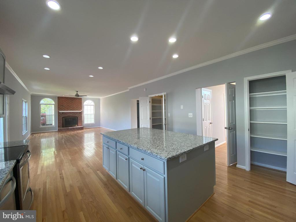Kitchen View-5 NEW recessed lighting and pantry - 6311 WILLOWFIELD WAY, SPRINGFIELD