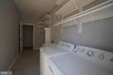 Laundry Room w/NEW washer, dryer & laundry tub - 6311 WILLOWFIELD WAY, SPRINGFIELD