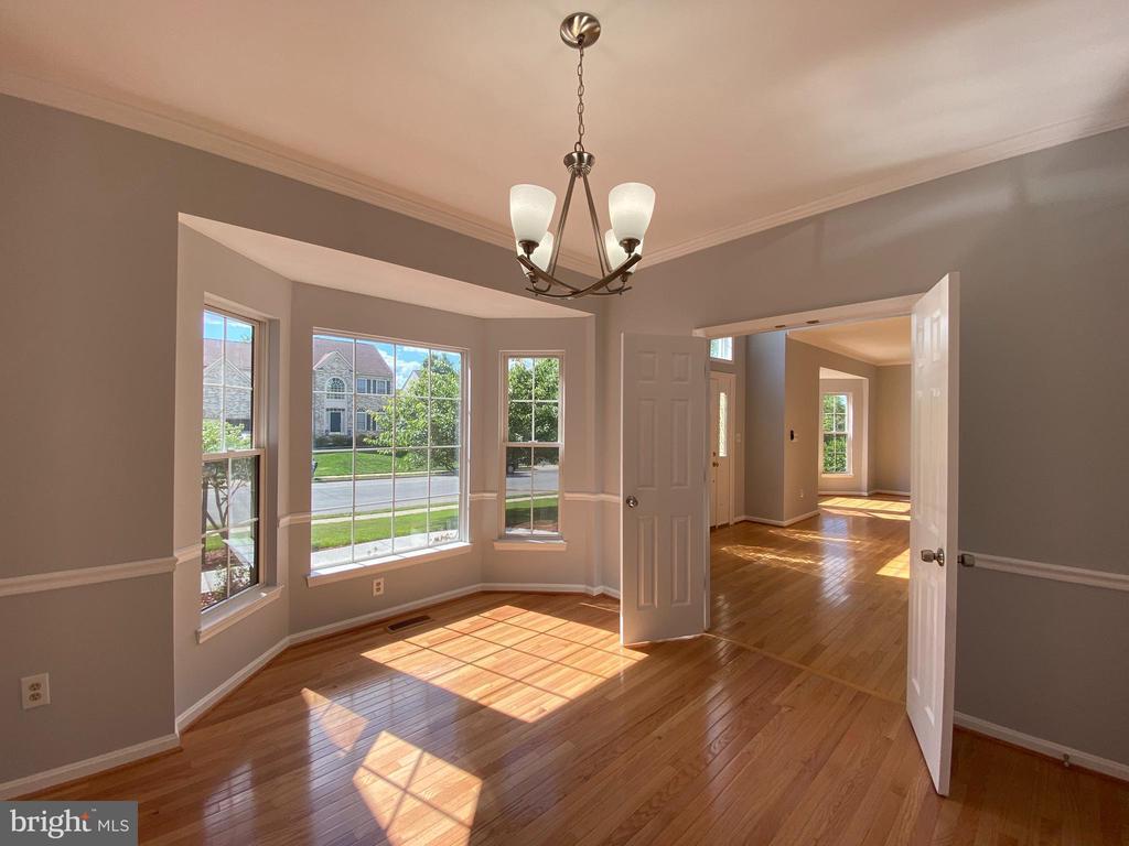 Dining Room w/NEW hardwood floors & lighting - 6311 WILLOWFIELD WAY, SPRINGFIELD