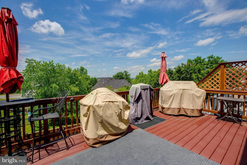 Large deck great for entertaining - 807 VALEMOUNT TER NE, LEESBURG