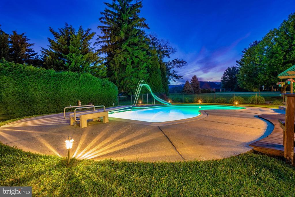 LOW VOLTAGE LIGHTING SURROUNDS POOL DECK - 6914 SUMMERSWOOD DR, FREDERICK