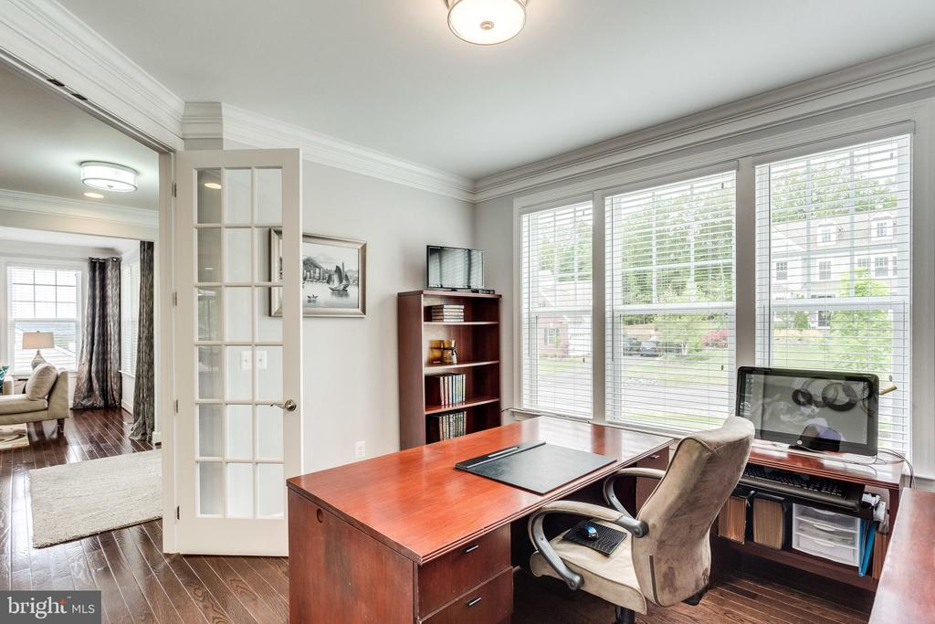 French Doors Into the Office - 41684 WAKEHURST PL, LEESBURG