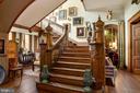 Main stairway spans 3 stories - 8394 ELWAY LN, WARRENTON