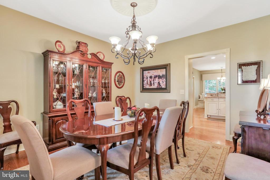 Formal Dining room with kitchen view - 92 EARLE RD, CHARLES TOWN