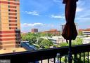 Balcony view Northview. - 400 MADISON ST #607, ALEXANDRIA