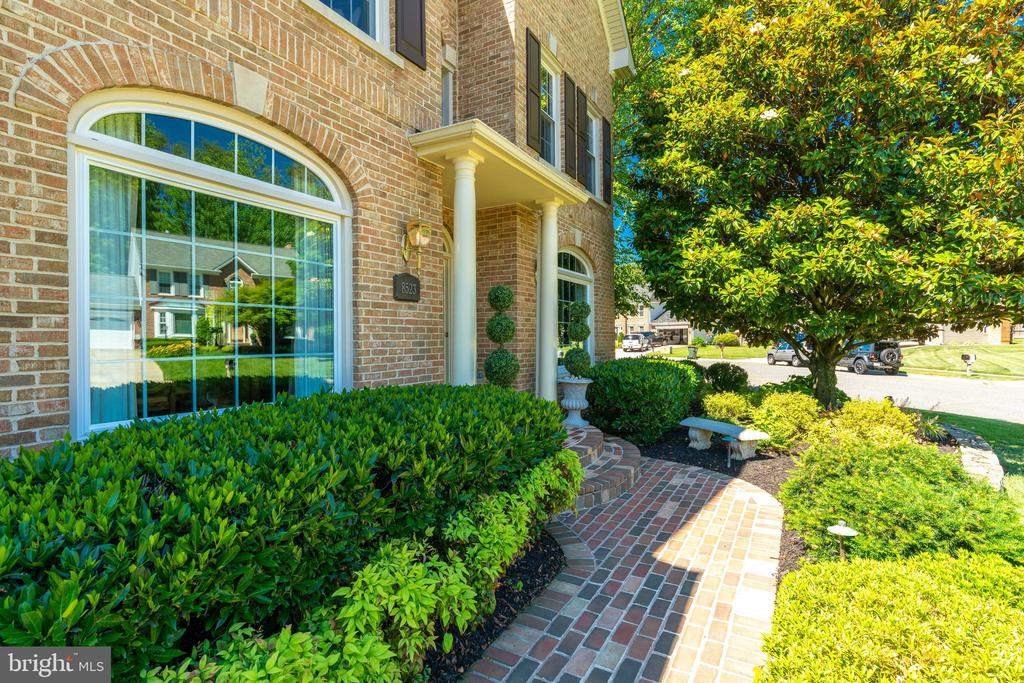 Elegant Brick Walkway Leading to Front Door - 8523 SILVERVIEW DR, LORTON